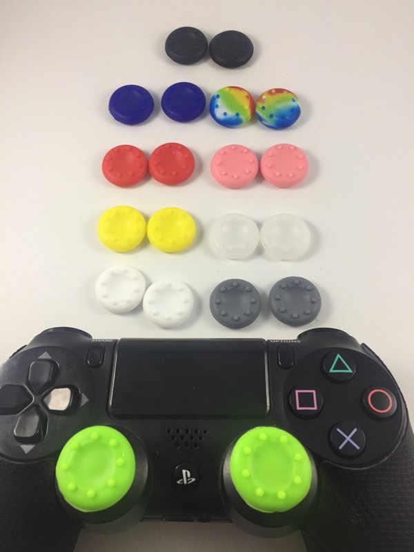 100 個 PS4 シリコーンキャップサムスティック親指スティックガードカバーケーススキンジョイスため PS4 Xbox one 360 コントローラ PS4 プロスリム