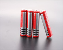 OOLAPR 16pcs 18650  6800mAh Red battery Free shippng Li-ion Rechargeable 3.7V Battery for Flashlight Newest