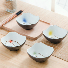 New Fashion Japanese Style Creative Ceramic Rice Pasta Oven Bowl 4.5 Inch Household Fruit Salad Tableware Palace Lunch Bowl