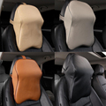 1Pcs Leath Memory Foam Cotton Car Pillow Nursing Neck Headrest Protection of the Cervical Spine to Adjust The Sitting Position
