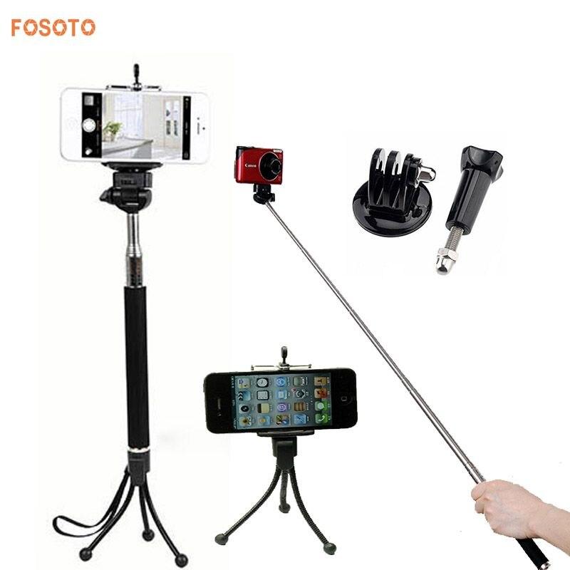 Handheld Extendable Self Portrait Selfie Monopod Stick: Fosoto Extendable Self Portrait Selfie Handheld Stick