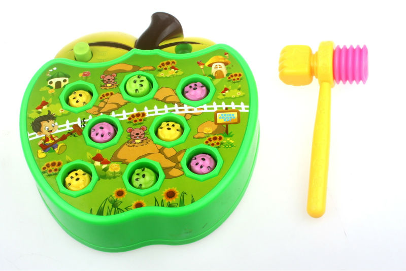 Cute Baby Whac-A-Mole Electric Music Playing Hamster Game Machine of Pocket Mole Lovely Electronic Plastic Kids Game Toy FSWOB