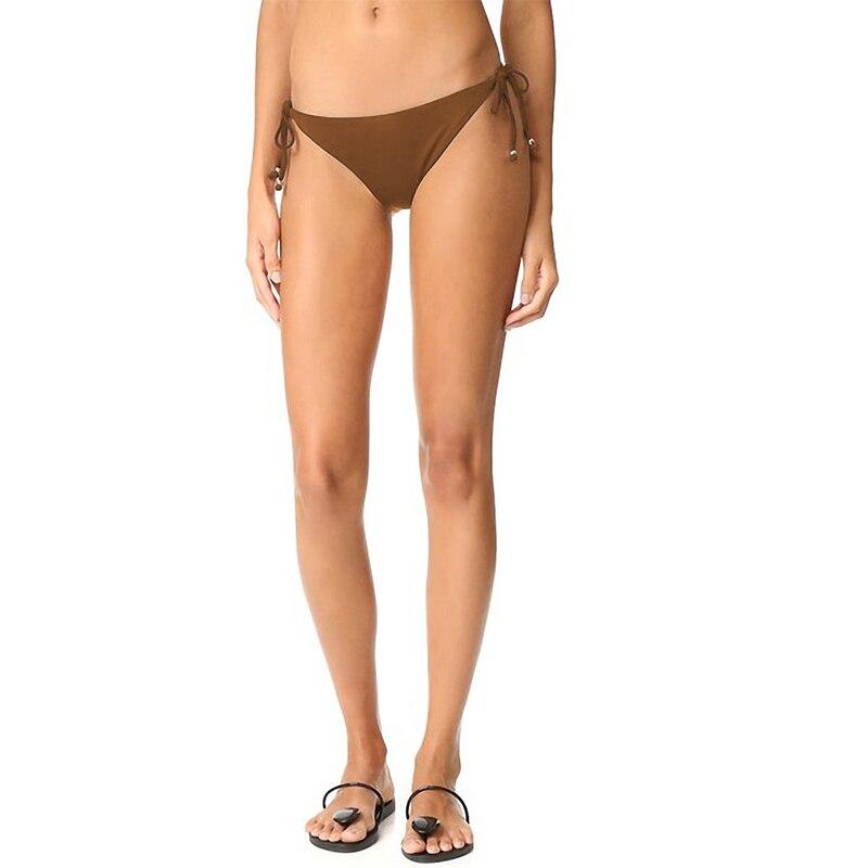 autentico 82be3 c41fb Sexy Fasciatura Regolabile A Vita Bassa Costumi Da Bagno Delle Donne del  Bikini Slip Fondo Marrone Boards Spiaggia Costumi Da Bagno Biancheria  Intima ...