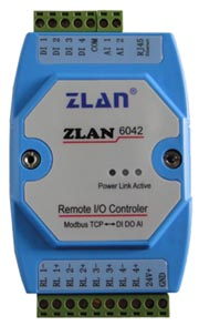 Remote IO controller digital data acquisition TCP Ethernet dry contact analog ZLAN6042/6032