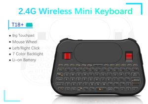Image 5 - VONTAR Backlight T18 Plus English Russian 2.4G Wireless Fly Air Mouse Backlit Keyboard Touchpad Controller for Android TV Box