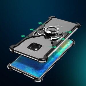 Image 3 - OATSBASF Luxus mit bat ring halter Fall Für Huawei mate 20 Pro Fall für Huawei mate 20 RS 20X Shell fall Metall Stoßfänger abdeckung