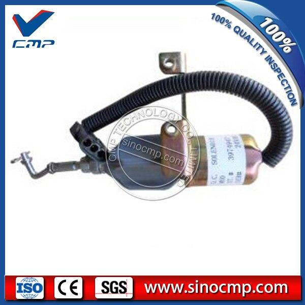 Sinocmp 3974974 excavator fuel stop switch shut off flameout solenoidSinocmp 3974974 excavator fuel stop switch shut off flameout solenoid