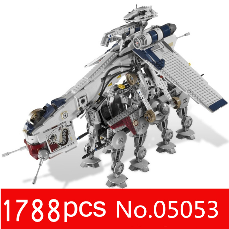 legoingly star wars republic 05053 toys set of landing ship building block brick building toys for children the christmas gifts anniversary of the second republic zaire gifts
