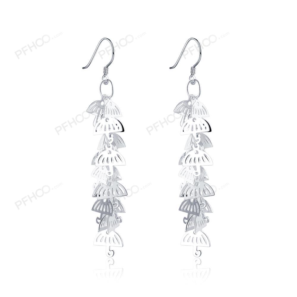 Jewels Silver Color Classic Cute Umbrella Big Earrings Studs Fashion  Stainless Steel Brincos Jewelry For Women