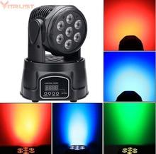 RGBW Stage Lights Lamps PRO DJ Show Equipment Party Lighting DMX512 Disco Bar Xmas 7 LED Wash Strobe Soundlight Remote Control