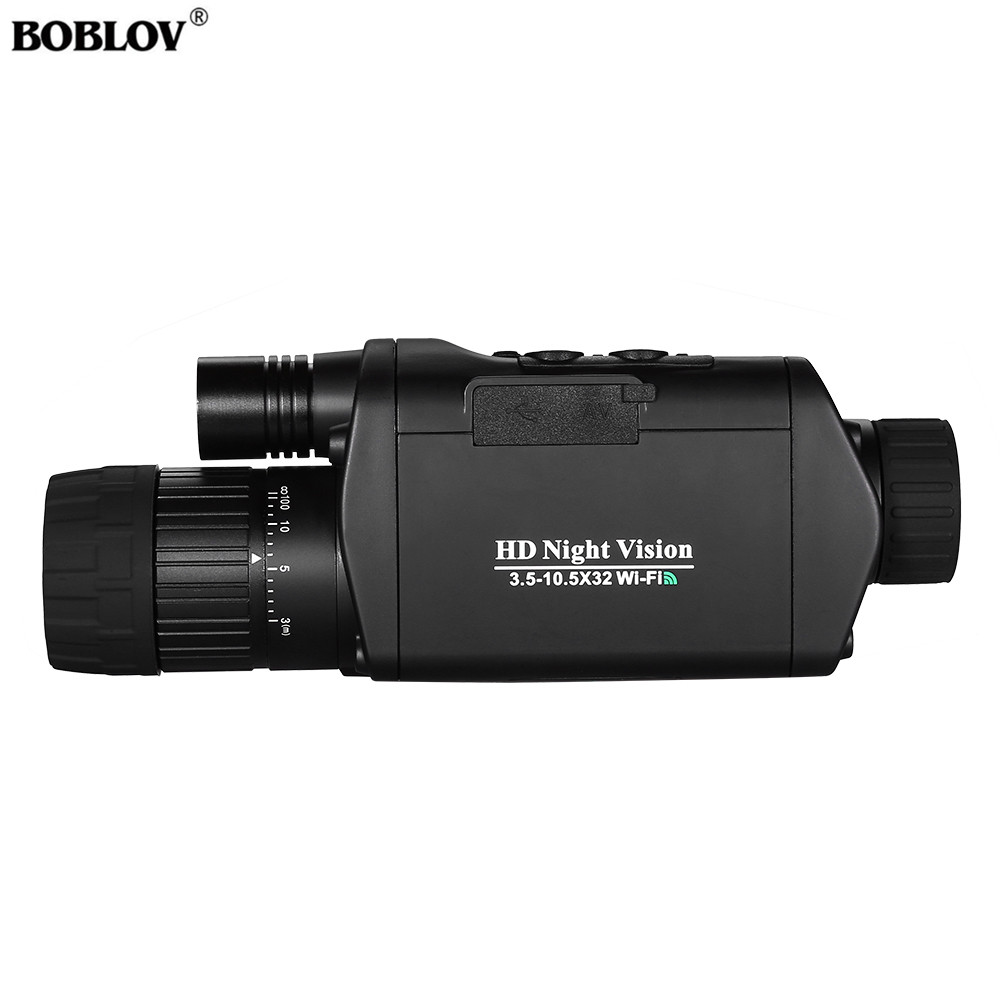 BOBLOV WiFi Night Vision Goggles 3X Monocular Telescope Digital Vision Night 3.5 10.5 x 32 Night Vision riflescope-in Night Visions from Sports & Entertainment
