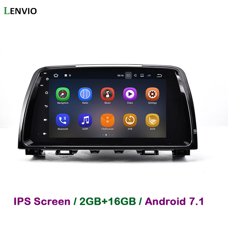 Lenvio 2 GB RAM Android 7.1 AUTO DVD Player Für <font><b>MAZDA</b></font> <font><b>6</b></font> 2013 <font><b>2014</b></font> 2015 Radio GPS Navigation multimedia Quad Core DAB + BT WIFI IPS image