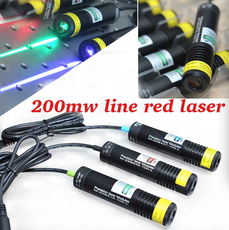 200mw 660nm line red laser module with power adapter and mounting bracket 5v 22x100mm 980nm 100mw ir laser module with line laser beam together with power adapter plug and use