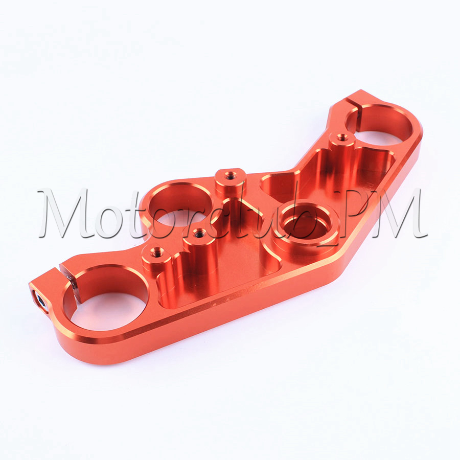 High-Quality Aluminum Front End Upper Triple Tree Top Clamp For Yamaha YZF R3 R25 2014-2016 2015 Orange for bmw 3 series e36 318 328 323 325 front coilover strut camber plate top mount green drift front domlager top upper mount