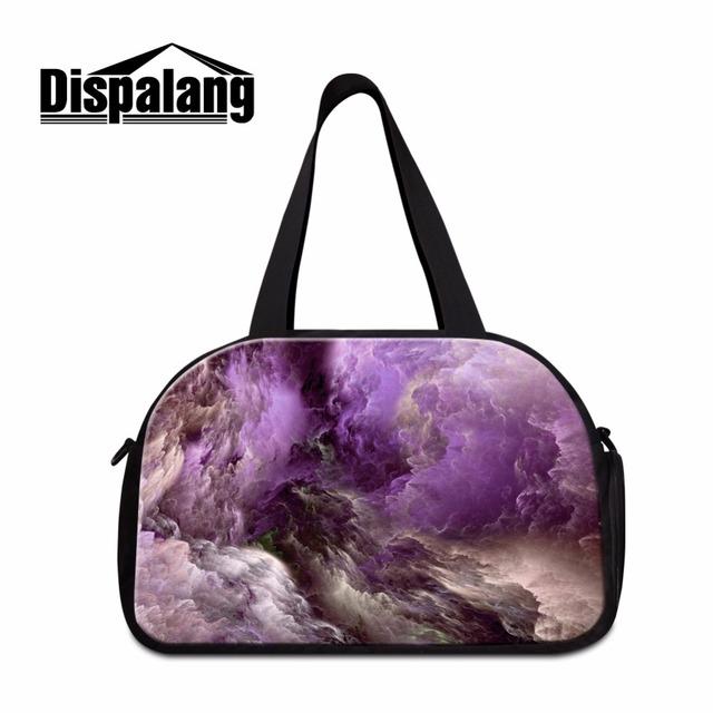 Sacos de sacos de viagem para as mulheres galaxy impresso médio porte gymy saco de ombro da forma saco da bagagem com bolso sapato menina mochila sporty saco