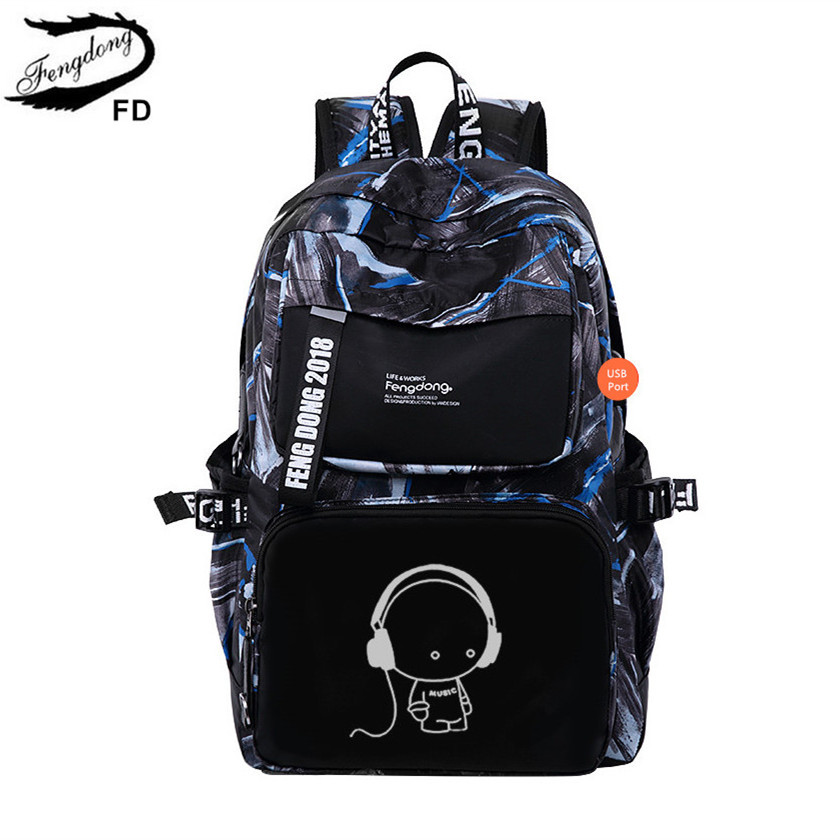 FengDong school bags for girls kids cute cartoon backpack usb bag for children girl schoolbag bookbag bagpack women daypack зимняя шина sailun ice blazer wst1 235 70 r16 106t п ш