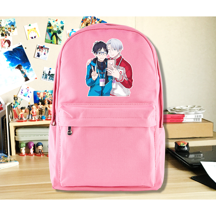 Anime YURI!!! on ICE Cosplay Yuri Plisetsky Cos  2017 new shoulder bag student canvas backpack birthday gift anime tokyo ghoul cosplay anime shoulder bag male and female middle school student travel leisure backpack