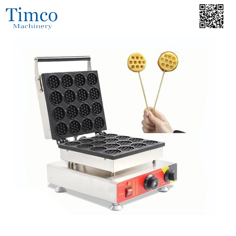 16pcs round mini waffle making machine commercial muffin cake machine electric waffle maker waffle pops maker