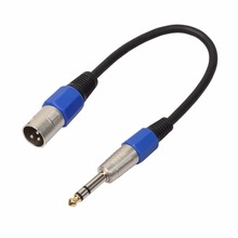 цена на 3P XLR Female Jack to 1/4 6.35mm Male Plug Stereo Microphone Adapter Cable Connector