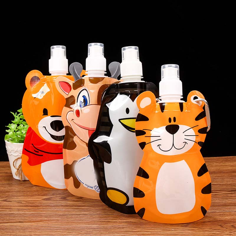 360ml Eco friendly foldable cartoon travel drink bottle safe for kid children BD