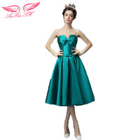 AnXin SH The bride green Cocktail Dresses tee short dinner will perform Cocktail Dresses new 0256 S