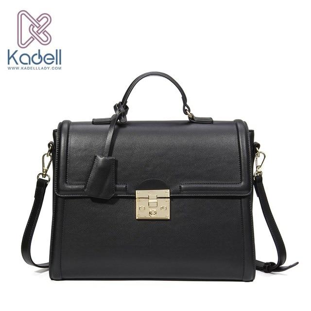 Kadell Для женщин сумка роскошные кожаные кошелек известные бренды дизайнер сумочку высокое качество женская сумка Бизнес Портфели сумки