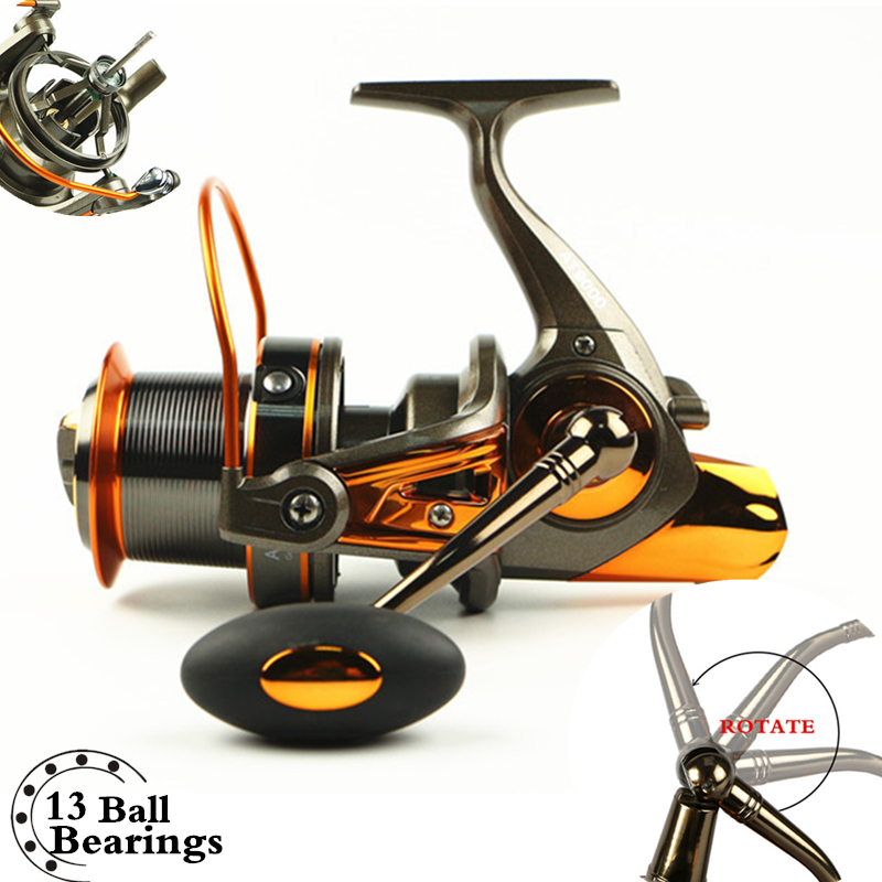 Full Metal Body Daiwa alike size 8000/9000 Long Shot casting carp Lure Fishing Reel 19KG Max Drag Sea Boat Fishing wheel trulinoya full metal body baitcasting reel 7 0 1 10bb carbon fiber double brake bait casting fishing reel max drag 7kg