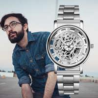 SOXY Relojes Hombre 2019 Relojes esqueleto marca superior de lujo Relojes de negocios de acero inoxidable para Hombre reloj masculino saat
