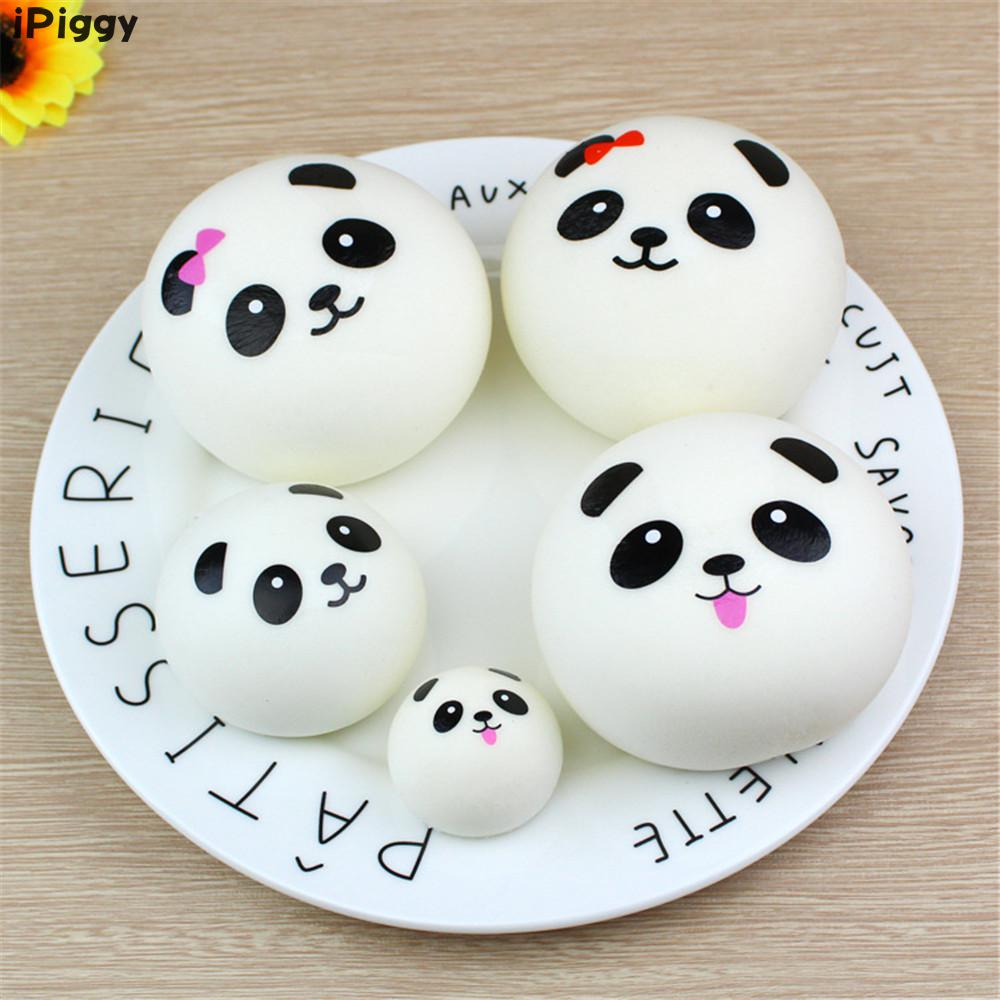 Squeeze Healing Toy Kawaii Kids Toy Stress Reliever BallSquishy Panda Bun Squishy Slow Rising Cream Scented Decompression Toys
