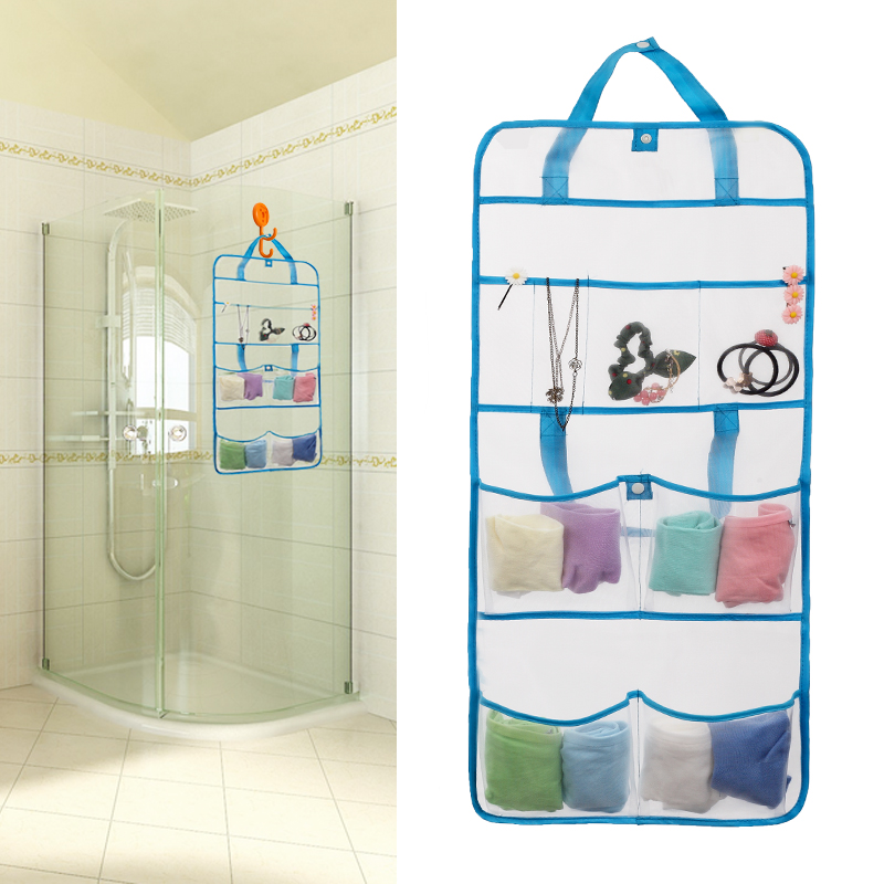 Shower caddy portable travel use bathroom wall hanging for Bath storage net