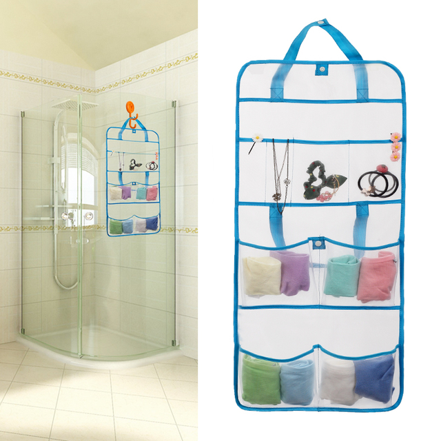 Shower Caddy Portable Travel Use Bathroom Wall Hanging Mesh Bag ...