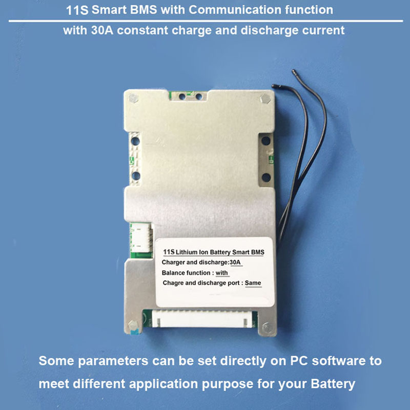 11S Lithium Ion battery Smart Protection BMS and PCB board with bluetooth and PC communication 30A