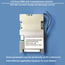 11 S Lithium Ion batterij Smart Bescherming BMS en printplaat met bluetooth en PC communicatie 30A lading en ontlading huidige