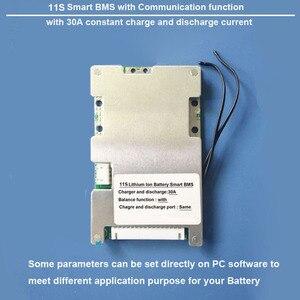 Image 1 - 11 S lityum iyon batarya Akıllı Koruma BMS ve PCB kartı ile bluetooth ve PC iletişim 30A şarj ve deşarj akımı