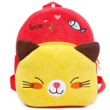 Kids Plush Backpack Toy Cute Animals Cartoon Cat School Shoulder Bag Baby Kids Snack Plush Bag Toys Kids Birthday/Xmas Gift(China)