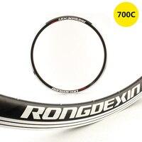 700c Road Bicycle Rims bicicleta carreteras Circle Aro Cerchioni Velgen Jantes Felge Clincher 20 24 28 32 36 Holes Disc V Brake