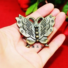 Free shipping 2016 10pcs Butterfly Metal Knob drawer Cabinet Bronze Box pulls Knob pull handle Vintage