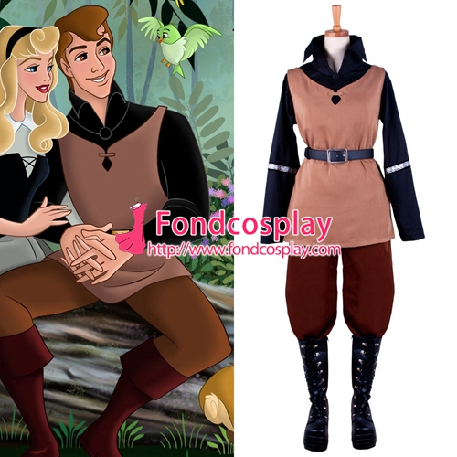 Free Shipping The Sleeping Beauty The Prince Phillip Cosplay Costume Tailor-made
