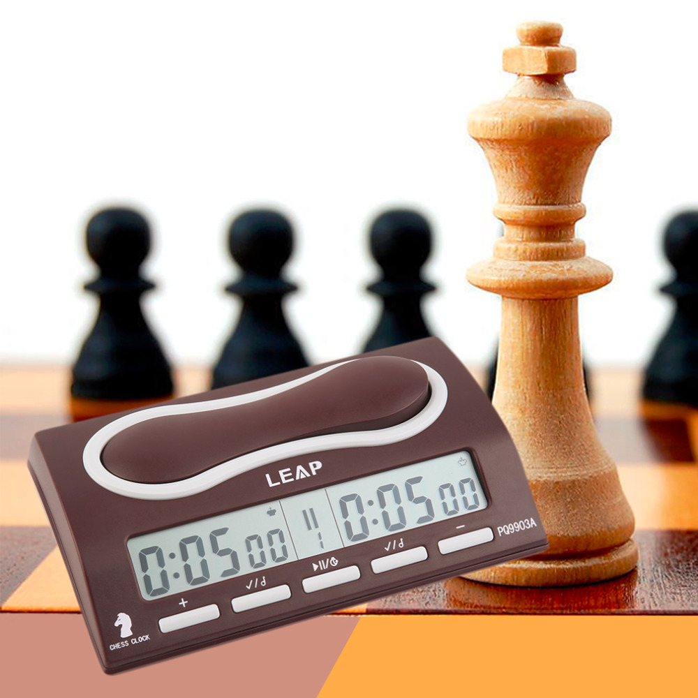 ФОТО Easy Timer Digital Chess Clock Professional Two LED Screens free shipping