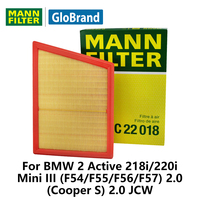 MANNFILTER Air Filter C22018 For BMW 2 Mini III F54 F55 F56 F57 Auto Parts