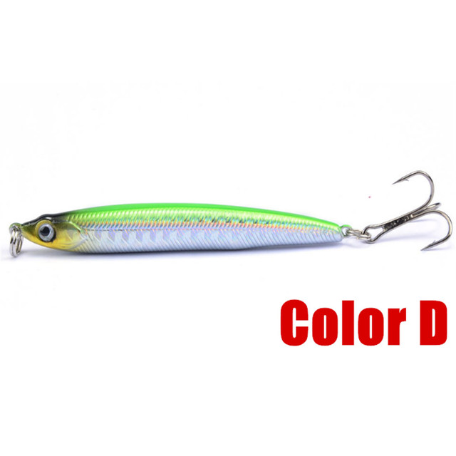 1pcs Sinking Pencil Fishing Lure 7cm/10g Pencil Shad Laser Minnow 3D Eyes Artificial Hard Bait Bass Pike Carp Fishing Tackle 5