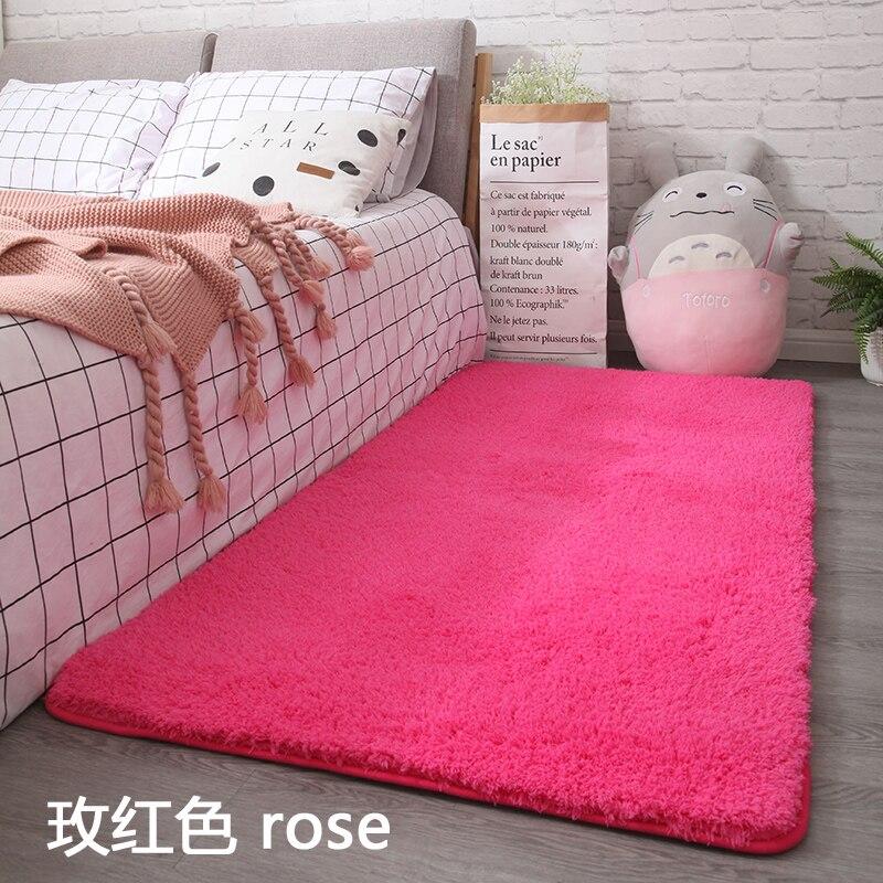 New Arrival Creative Lambskin Carpet Thick Absorbent Mat Rectangular Bedroom Non-slip Rug Tatami Wool Carpet Bedside Blanket
