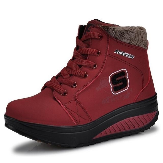 2016 nuevas señoras de invierno casual botas de nieve impermeables de las mujeres botines planos femeninos antideslizantes zapatos de invierno para el mujer
