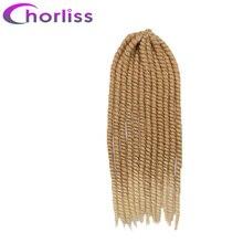 """Chorliss 22 """"Гавана твист плетение волос крючком Твист косы Синтетические пряди для наращивания волос Черный Блондинки Синий Фиолетовый Красный 120 г"""