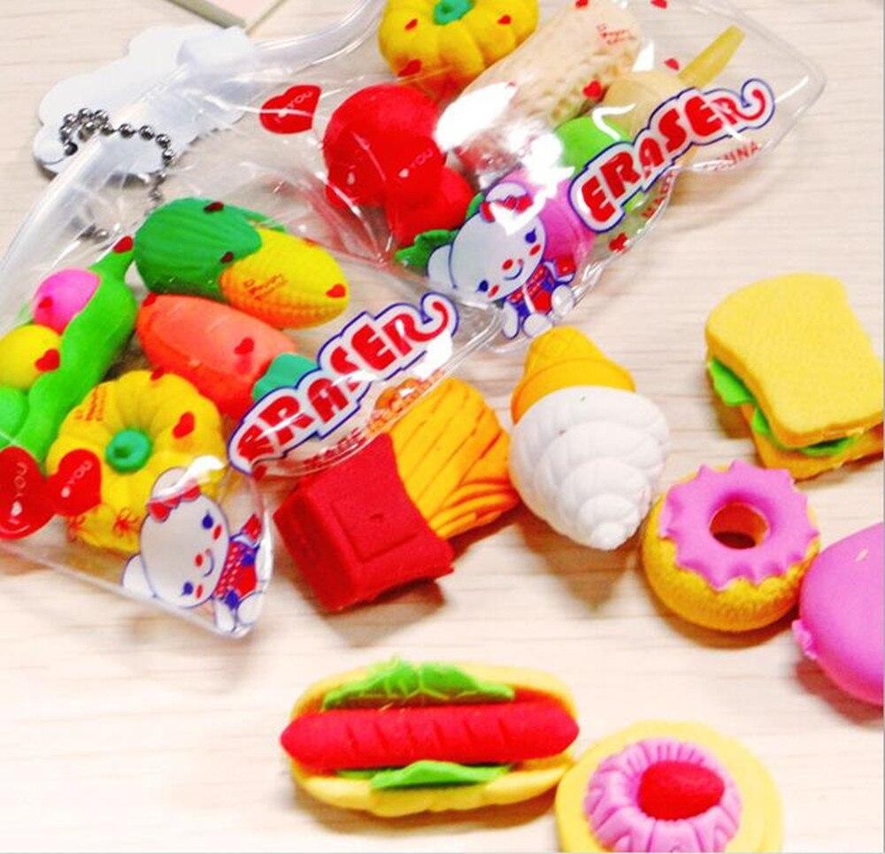 1 шт. в упаковке милые разных Форма s пистолета для овощей и фруктов кухни Форма резиновые ластик для студентов канцелярская для ребенка Cr