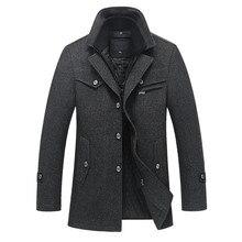 2017 Горячие теплые осень и зима высокое качество мужская куртка шить мужские случайные куртка пальто бесплатная доставка