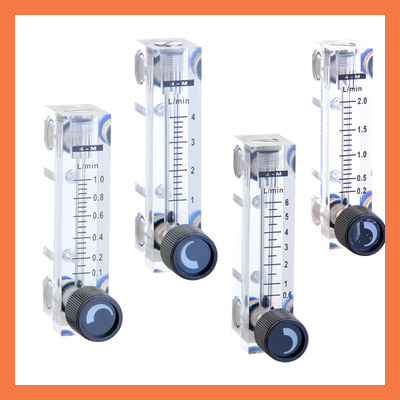 LZT-4T 0.25-2.5L/min 0.25-2.5LPM Square Panel Type gas Flowmeter Flow Meter rotameter LZT4T Tools Flow Measuring lzb 15 glass rotameter rotor flowmeter for gas