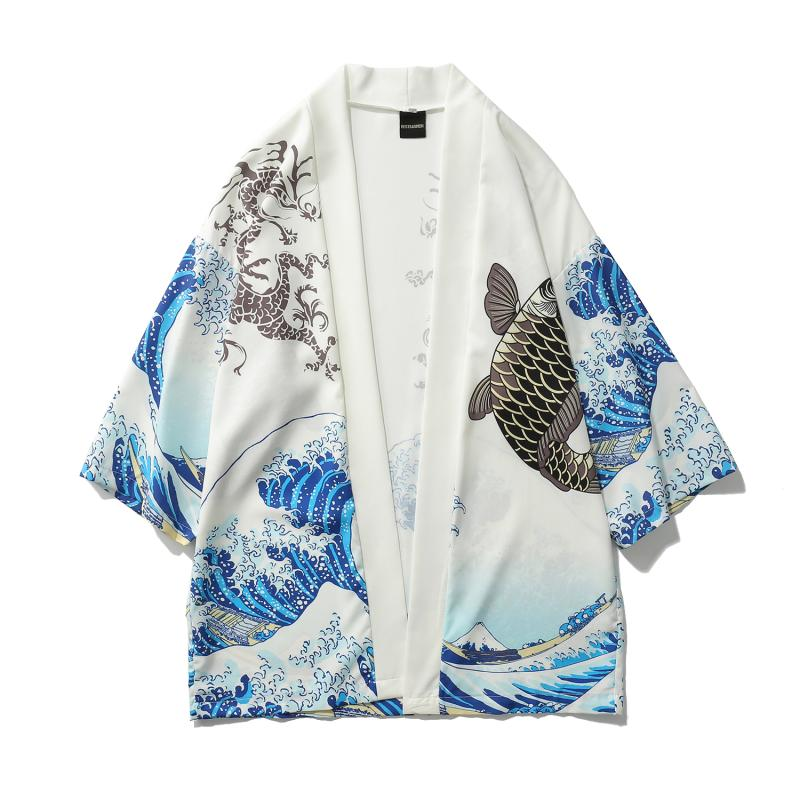 HTB1gMOjyIyYBuNkSnfoq6AWgVXab Zongke Japanese Kimono Cardigan Men Wave and Carp Print Long Kimono Cardigan Men Thin Mens Kimono Cardigan Jacket Coat 2018