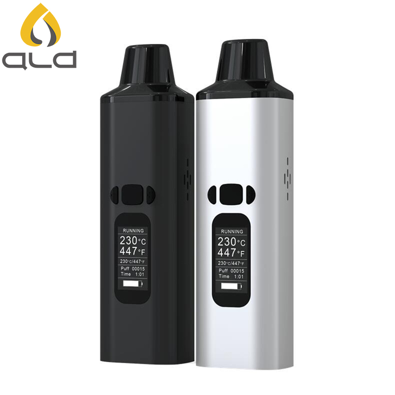 ALD AMAZE dry herb vaporizer kit smoke herbal electronic cigarette vaporizer portable vape pen with 0.96 inch big Oled display 30w safety electronic cigarette mini mechanical pole smoke suit steam smoke portable authentic electronic cigarette