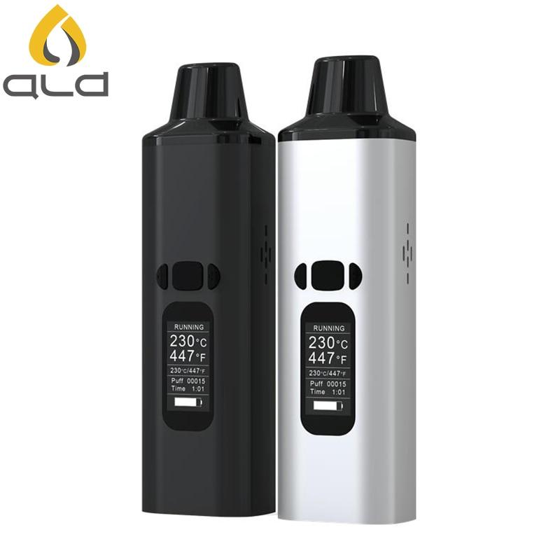 ALD AMAZE trockenen kraut vaporizer kit rauch kräuter elektronische zigarette verdampfer tragbare vape stift mit 0,96 zoll großen oled-display